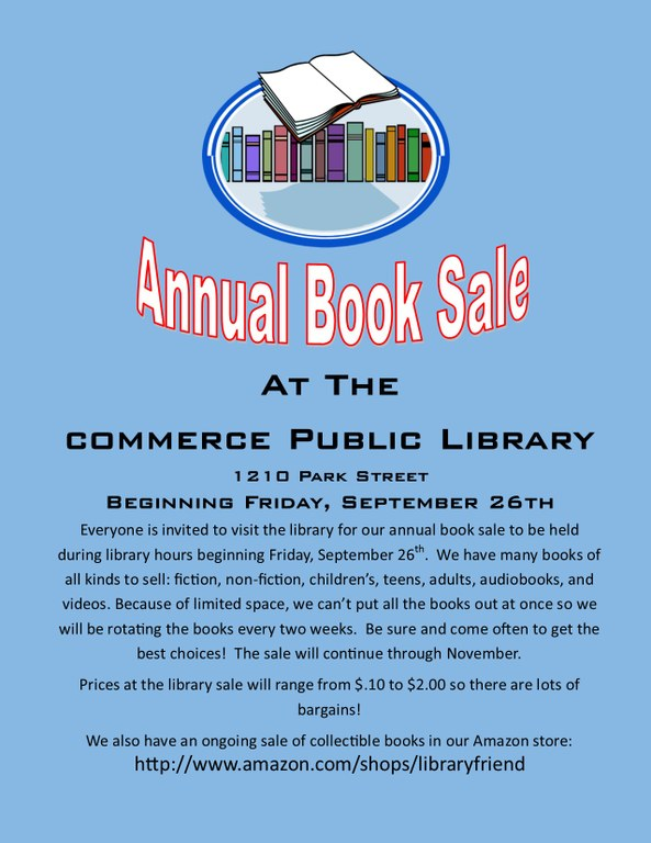 Book Sale Sign