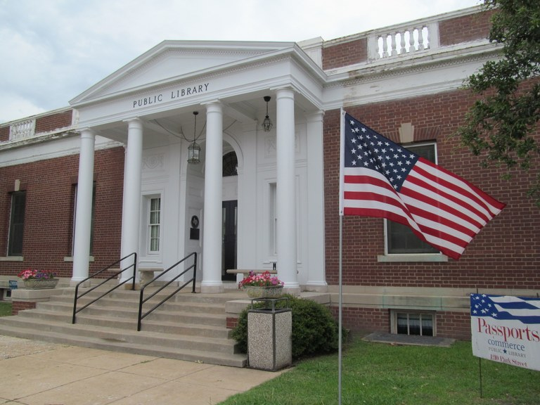 Library with flag
