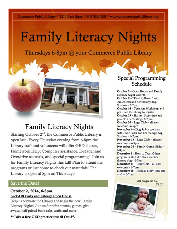 Family Night Flyer